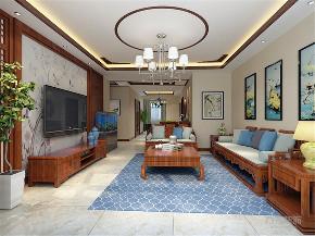 中式 三居室 中铁国际城 客厅图片来自阳光放扉er在力天装饰-中铁国际城-144㎡的分享