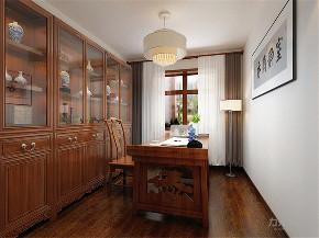 中式 三居室 中铁国际城 书房图片来自阳光放扉er在力天装饰-中铁国际城-144㎡的分享