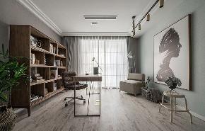 书房图片来自家装大管家在超级有爱 175平北欧时尚混搭居的分享