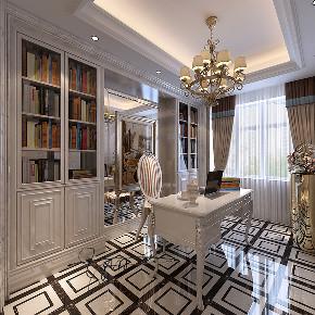 简约 欧式 三居 白领 小资 收纳 书房图片来自众意装饰 李潇在天朗大兴郡-欧式风格案例的分享