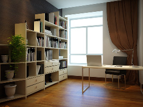 公园新世纪 三室 现代 简约 峰光无限 书房图片来自我是小样在公园新世纪三室117平现代简约的分享