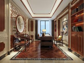 别墅 书房图片来自深圳浩天装饰在中洲·中央公园的分享