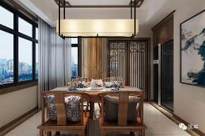 简约 四居 中式 新中式 别墅 餐厅图片来自众意装饰 李潇在一曲江山新中式风格案例的分享