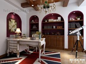别墅 明德小镇 实创 地中海 书房图片来自实创装饰小彩在明德小镇小独栋244平地中海的分享