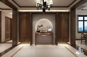 简约 四居 中式 新中式 别墅 玄关图片来自众意装饰 李潇在一曲江山新中式风格案例的分享
