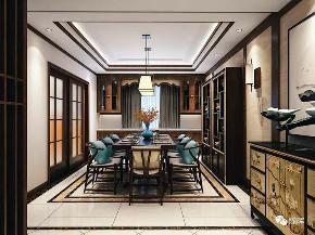 中式 新中式 别墅 三居 小资 收纳 简约 餐厅图片来自众意装饰 李潇在聚福苑新中式风格案例的分享
