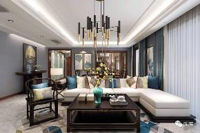 新中式 中式 简约 四居 别墅 收纳 小资 现代简约 客厅图片来自众意装饰 李潇在天鹅堡新中式风格案例的分享