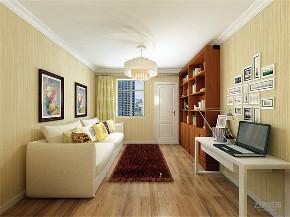 二居室 现代简约 唐口南里 书房图片来自阳光放扉er在力天装饰-唐口南里-50㎡的分享