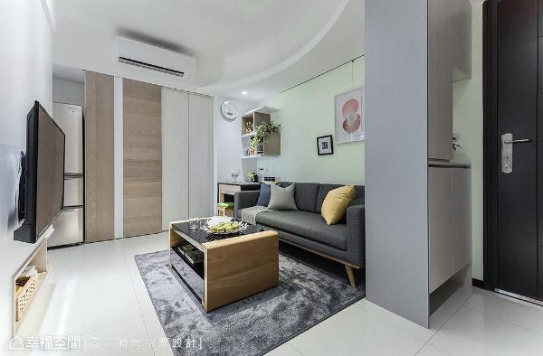 虽然是小坪数空间,但透过得宜的规划,照样能拥有五脏俱全、温馨舒适的居家氛围。