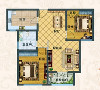水青花都二期二居室简约设计92平