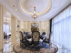 新古典 法式 别墅 跃层 复式 大户型 80后 高帅富 餐厅图片来自高度国际姚吉智在680㎡法式新古典时尚独栋别墅的分享