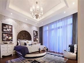 新古典 法式 别墅 跃层 复式 大户型 80后 高帅富 卧室图片来自高度国际姚吉智在680㎡法式新古典时尚独栋别墅的分享
