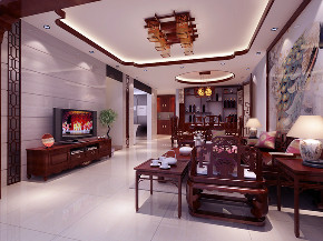 中式 南北通透 施工工地 客厅图片来自广西品匠装饰集团在江川悦城中式风格的分享