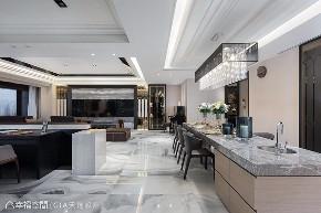 四房 现代 大户型 餐厅图片来自幸福空间在层峰飨宴 淬炼198平品味精工宅的分享