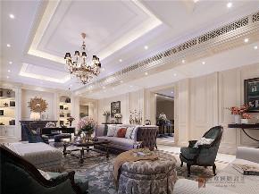 新古典 法式 别墅 跃层 复式 大户型 80后 高帅富 客厅图片来自高度国际姚吉智在680㎡法式新古典时尚独栋别墅的分享