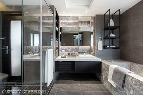 四房 现代 大户型 卫生间图片来自幸福空间在层峰飨宴 淬炼198平品味精工宅的分享