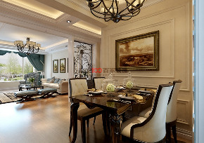餐厅图片来自沈阳百家装饰小姜在百家装饰-克莱枫丹120平简美风格的分享