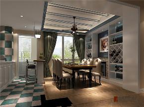 美式 二居 三居 白领 收纳 旧房改造 80后 小资 餐厅图片来自高度国际姚吉智在104平米简美风定义生活新格调的分享