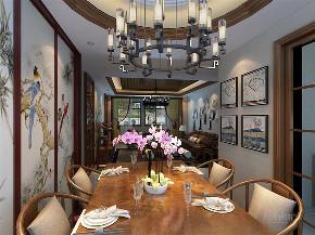 三居室 中式风格 大河宸章 餐厅图片来自阳光放扉er在力天装饰-大河宸章-142㎡的分享