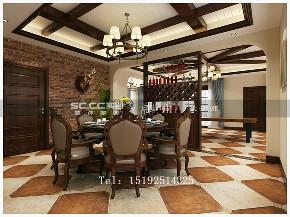 别墅 实创 龙湖滟澜海 美式 餐厅图片来自实创装饰小彩在龙湖滟澜海岸400平美式装修案例的分享