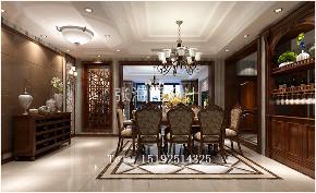 三居 美式 实创 晓港名城 餐厅图片来自实创装饰小彩在晓港名城六期215平四居室美式的分享