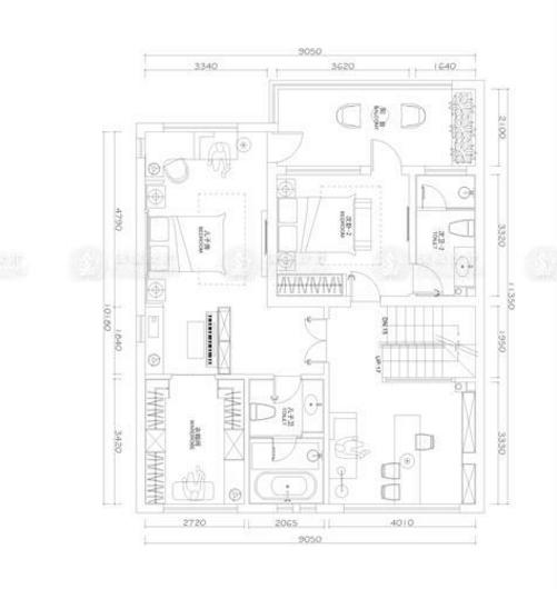 绿色家园 装修设计 简欧风格 腾龙设计 徐文作品 户型图图片来自室内设计师徐文在奉贤 绿色家园330平别墅欧式设计的分享