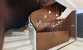 一品漫城 别墅装修 现代前卫 腾龙设计 徐文作品 楼梯图片来自室内设计师徐文在一品漫城570平别墅现代前卫风格的分享