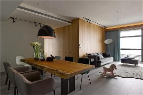 港式 三居 大户型 白领 收纳 80后 小资 餐厅图片来自高度国际姚吉智在135平米现代港式精致个性范儿的分享