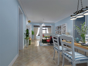 地中海 三居 收纳 小资 餐厅图片来自阳光放扉er在力天装饰-瑞园小区-130㎡-地中海的分享