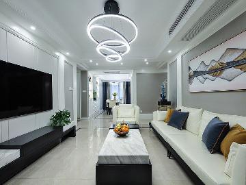 黑白搭配 110平个性现代时尚3居