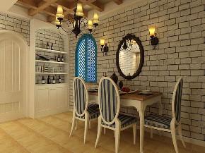地中海 二居 收纳 小资 餐厅图片来自阳光力天装饰在力天装饰-沽上江南-89㎡-地中海的分享