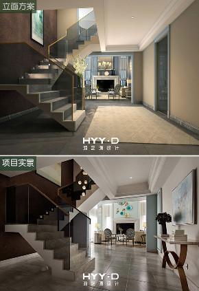 时尚简美 别墅 效果图 楼梯图片来自郑鸿在黎光海韵--深圳翡翠海岸室内设计的分享