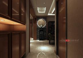 三居 龙湖唐宁 新中式风格 衣帽间图片来自百家设计小刘在龙湖唐宁one160平新中式风格的分享