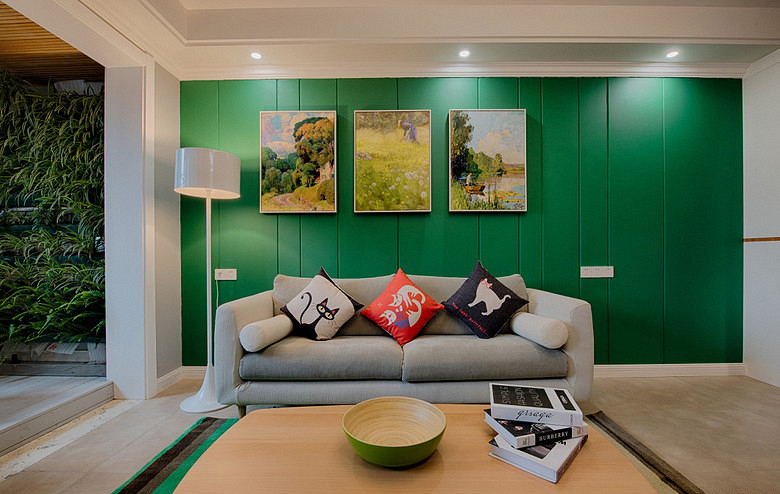客厅图片来自家装大管家在繁花似锦 86平森男系北欧风格居的分享