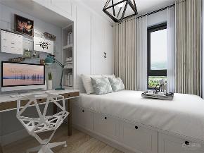 北欧 欧式 二居 收纳 小资 卧室图片来自阳光放扉er在力天装饰-融创兰园-78㎡-北欧的分享