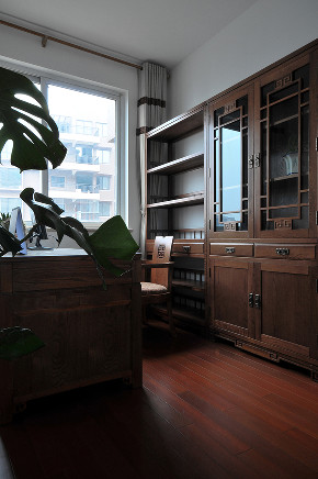 三居 书房图片来自金煌装饰有限公司在简约大气的新中式风格的分享