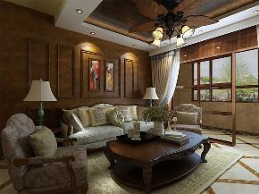 美式 简美 二居 小资 白领 收纳 客厅图片来自阳光放扉er在力天装饰-保利海棠湾-97㎡-美式的分享