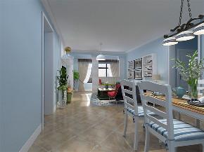 地中海 三居室 瑞园小区 餐厅图片来自阳光力天装饰在瑞园小区-130平-地中海风格的分享