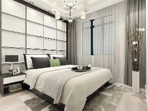 简欧风格 二居 卧室图片来自阳光力天装饰在碧水庄园-112平-简欧风格的分享