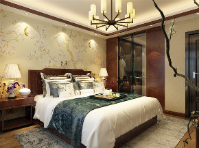 四居室 中式 卧室图片来自阳光力天装饰在原乡郡-123平-中式的分享