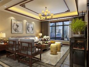 四居室 中式 客厅图片来自阳光力天装饰在原乡郡-123平-中式的分享