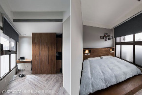 二居 卧室图片来自幸福空间在简约沉稳 73平现代风格宅的分享