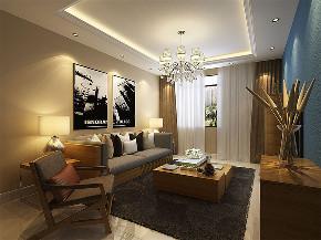 三居 简约 客厅图片来自阳光力天装饰在力天装饰-远洋城-106㎡-现代风格的分享