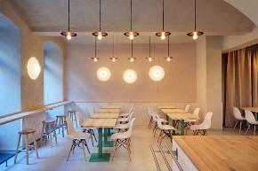 简约 现代 混搭 餐厅设计 餐厅装修 白领 小资 餐厅图片来自尚品老木匠装饰设计事务所在素食餐厅设计-简约时尚的美味的分享