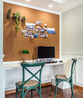书房图片来自家装大管家在一抹绿色 98平清新美式雅致空间的分享