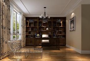简约 旧房改造 80后 中式 书房图片来自夏戈在润泽公馆新中式风格的分享