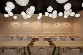 简约 现代 混搭 餐厅设计 餐厅装修 白领 小资 卫生间图片来自尚品老木匠装饰设计事务所在素食餐厅设计-简约时尚的美味的分享