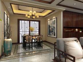 中式 新中式 四居 白领 小资 客厅图片来自阳光放扉er在力天装饰-原乡郡-123㎡-中式的分享