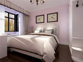 美式 简美 二居 小资 收纳 卧室图片来自阳光放扉er在力天装饰-瑞民里-95㎡-简美的分享
