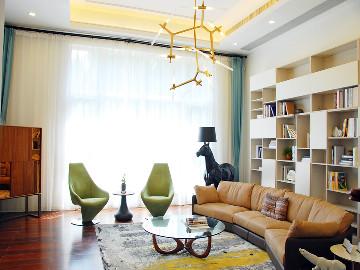 誉天下别墅软装设计现代休闲风格